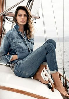 Daria Werbowy by Lachlan Bailey for AG Jeans SS 2015 campaign