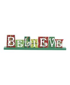 Take a look at this 'Believe' Cutout Sign by Transpac Imports on #zulily today!
