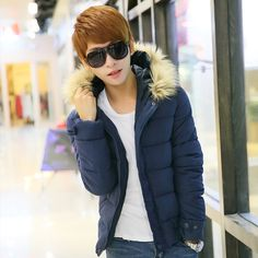 Find More Down & Parkas Information about 2014 Promotion Real Man Jacket Ter Padded Jacket Hooded Thickened Korean Men Slim Cotton Coat Short Paragraph Male Version Of ,High Quality Down & Parkas from RAINBOW HALL on Aliexpress.com