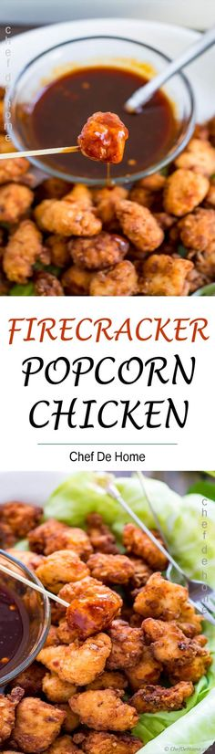 Firecracker Popcorn Chicken Recipe - Perfect plan for Game Day Snacking with Firecracker Hot and Sweet Popcorn Chicken