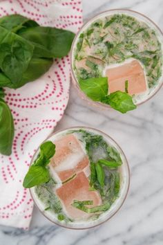 Spring Cocktail Recipe: Rhubarb Basil Cocktail — Drink Recipes from the Kitchn | The Kitchn