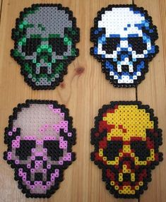 Skulls of colors by mojjan on DeviantArt
