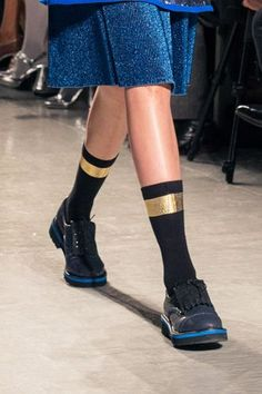 15 Accessory Trends To Update Your Look #refinery29  http://www.refinery29.com/accessory-trends#slide-45  Embellished Trouser SocksSuno....