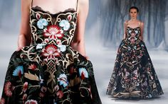 PSAW1610  I love the oriental pattern on such a gorgeous black gown !
