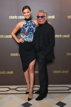 Beautiful photo of Irina Shayk and Roberto Cavalli at the opening of the new #RobertoCavalli boutique in Bucharest!