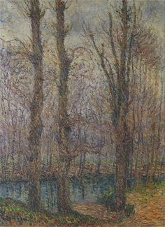 Trees by the River by Gustave Loiseau