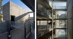 Diaz-y-Diaz-Arquitectos-estructura-horigón-prefabricada-escaleras-barandilla-tramex-acero-galvanizado