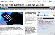 Aug 14 - Online And Distance Learning Weekly:  This online weekly newspaper has the latest news, innovations, courses and other information about online education.  Read and subscribe free at: http://paper.li/NattyStewart24/1325359513