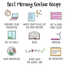 What does your morning routine look like? 👇 🌄 We love these tips from - use a few of these ideas to get yourself on the right track when you wake up. Self Care Bullet Journal, Vie Motivation, Entrepreneur Motivation, Entrepreneur Quotes, Workout Motivation, Routine Planner, Self Care Activities, Getting Up Early, Psychology Facts