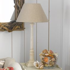 Existing pair of lamps Roman Column Bedside Lamp, Wood high Bedside Lamps Cream, Bedside Lamps Wood, Wooden Columns, Roman Columns, Light Table, Lamp Light, Off White Paints, Lamp Inspiration, Room Lights