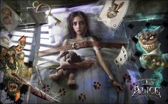 I dreamed to do a picture for my lovely game and story - American McGee`s Alice: Madness returns So i drew it during a 30 hours, and finally it`s done. Now it's time to put your blade to work Dark Alice In Wonderland, Game Art, Drawings, Alice Madness Returns, Creepy, Art, Pictures, Fairy Tales, Fan Art