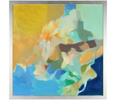 Yellow & Blue Abstract   Anna Poole   Serena & Lily
