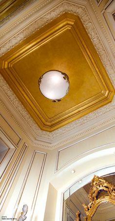 Ceiling 24karat gold leaf