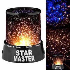 Star Master Experience Cosmos Projector Constellation Revolving Night Light Lamp