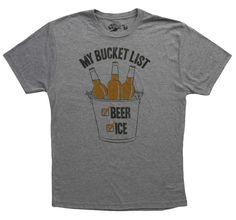 Xuforget Man Bucket List-Beer /& Ice Dating Short Sleeve Tee Shirt Cotton Tops