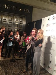 Here I am on the Red Carpet with my friend Kristin Bauer ('True Blood' actress) we love our furs...