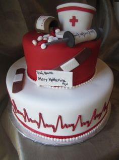 Round Nursing Graduation Cake Fun Cakes for Any Occasion