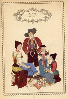 Tirol 2 Folk Costume, Costumes, Austria, Postcard Art, Historical Clothing, Folklore, Regional, Germany, Traditional