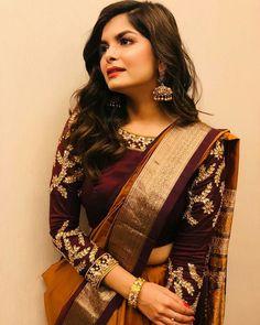 30+ Latest Trending Silk Saree Blouse Design - traditional wear ideas - #Blouse #Design #Ideas #latest #Saree #Silk #Traditional #Trending #wear