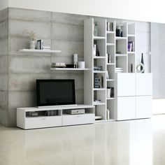 Ensemble de meubles TV Emporior i - Blanc