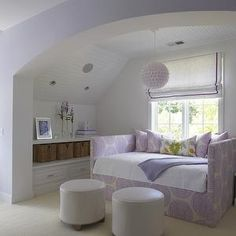 Upholstered Daybed, Contemporary, girl's room, Lynn Morgan Design