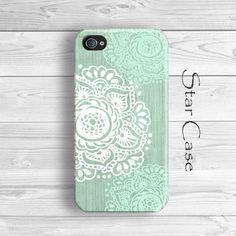 Floral iPhone 5 Case, Mint iPhone 5C Case, Floral iPhone 5s Case, iPhone 4s Case, Girly iPhone 5 Case, iPhone 4 Case Green, Flower iPhone Case by Star Case