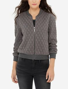 Eva Longoria Quilted Bomber Jacket from TheLimited.com