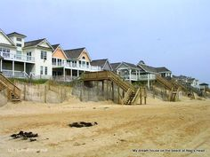 Nags Head beach houses, Outer Banks, North Carolina, USA    Great place for a honeymoon