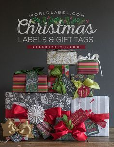Christmas Gift Tags & Labels to Print - Lia Griffith
