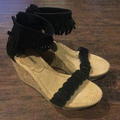 New Minnetonka Fringe Wedges New without box Minnetonka black fringe wedges size 7. Minnetonka Shoes Wedges