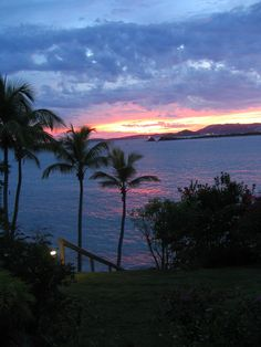 Sunset over St. Thomas as seen from St. John (Gallows Point Resort)
