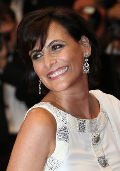Ines de la Fressange Jewelry - diamond studded chandelier earrings for the opening ceremony of Cannes Film Festival