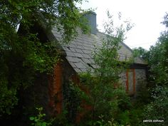 abandoned house. front view.buncrana. county donegal