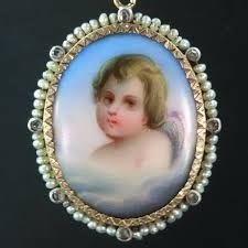 Картинки по запросу antique portrait miniature brooch