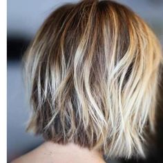 100 Mind-Blowing Short Hairstyles for Fine Hair Shaggy+Blonde+Balayage+Bob Medium Hair Styles, Short Hair Styles, Blonde Balayage Bob, Blonde Highlights, Corte Y Color, Haircuts For Fine Hair, Layered Haircuts, Great Hair, Awesome Hair
