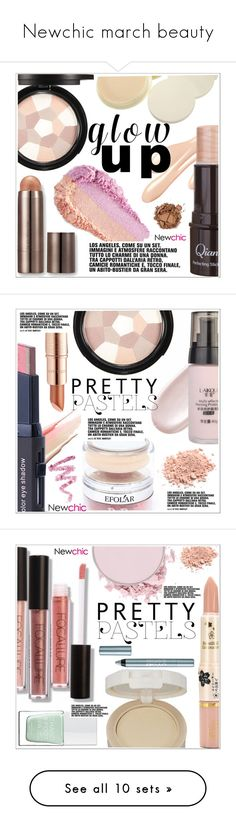 """""""Newchic march beauty"""" by teoecar ❤ liked on Polyvore featuring beauty, Laura Mercier, L.A. Girl, Estée Lauder, Cynthia Rowley, The Hand & Foot Spa, BeYu, Marc Jacobs, Ilia and ZOEVA"""