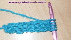Crocheted i-cord tutorial: interesting! I hate knitting i-cord, maybe this will be better. Crochet I Cord, Love Crochet, Crochet Motif, Crochet Crafts, Crochet Yarn, Yarn Crafts, Crochet Projects, Crochet Tutorials, Crochet Instructions