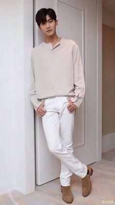 Korean Fashion – Designer Fashion Tips Korean Fashion Summer Casual, Korean Fashion Men, Winter Fashion Casual, Emo Fashion, Park Hyung Sik, Strong Girls, Strong Women, Asian Boys, Asian Men