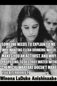 An Activist is not a Terrorist, a Polluter is.