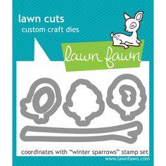 LF573  Lawn Cuts Custom Craft Dies Winter Sparrows
