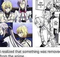 Manga vs anime owari no seraph