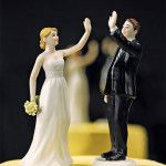 Bride & groom high-fiving each other! 17 feminist cake toppers by the lovely ladies at Stuff Mom Never Told You