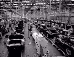 Assembly line at British leylend
