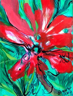 A personal favorite from my Etsy shop https://www.etsy.com/listing/481271675/abstrat-landscapered-amd-green-colored