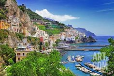 Travel In Italy Series - View Of Beautiful Amalfi Photographic Print by Maugli-l at Art.com