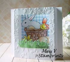 My Other World: Stamprints - Bunny In Basket
