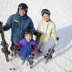 Smiling family with ski gear in ski resort stock photo , Ski Gear, Winter Sports, Motorcycle Jacket, Skiing, Winter Jackets, Time Kids, Snow, Stock Photos, Design