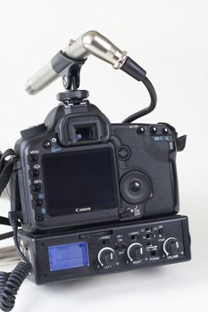 BeachTek #DXA-5Da audio adapter - allows use of XLR mics and features audio signal strength meter. Compatible with #5D MK II. $329