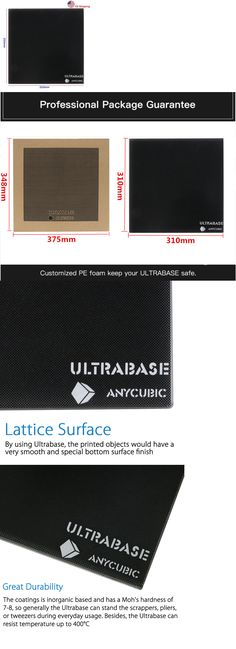 US Stock Anycubic Ultrabase 310x310mm 3D Printer Platform Surface Glass Plate