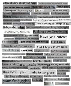 There are more ways to self harm besides cutting...... Don't judge a person before you have heard their story. You don't know what they have been through